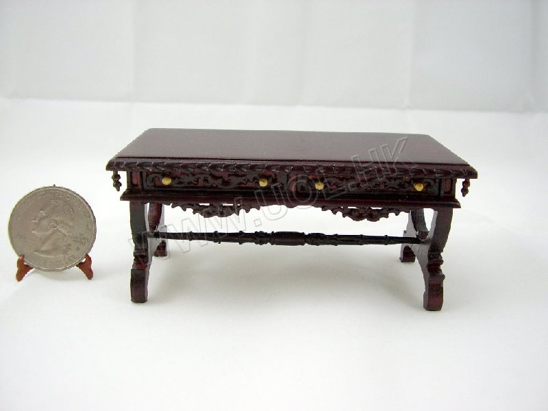 Carved Coffee Table Finished in Mahogany