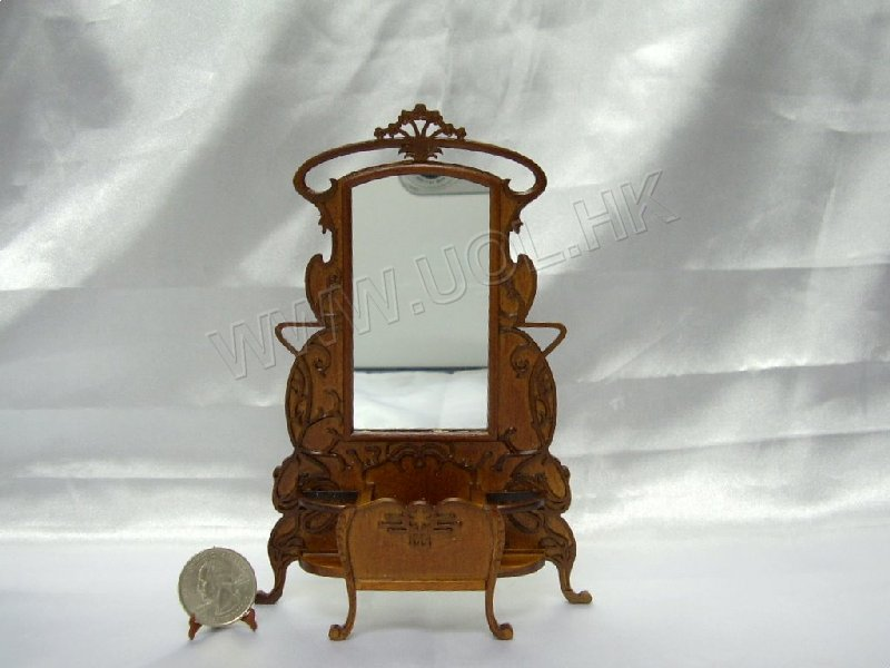 "1""Scale Walnut Guadie Art Noveau Hall Stand"