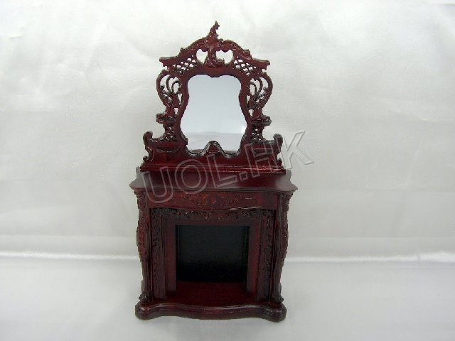Mahogany carved Fireplace-Y3003MH