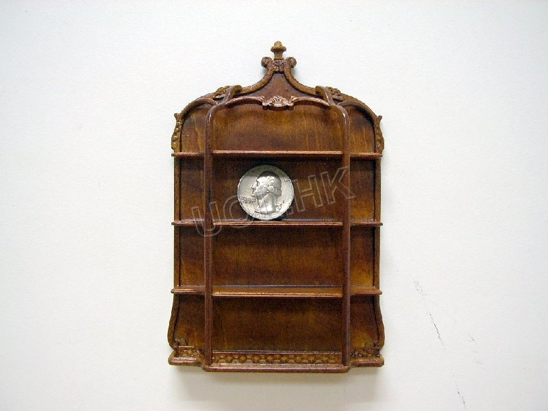 High-end doll house large wall plate shelf