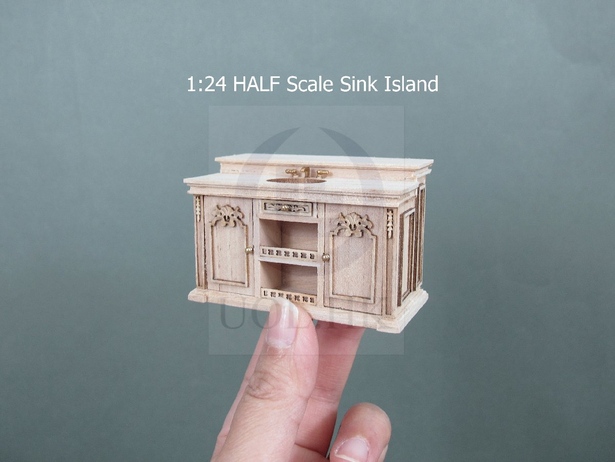 Scale French Provincial Kitchen Sink