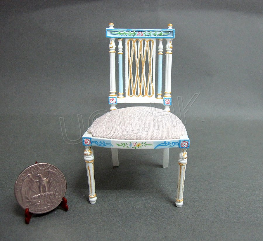 "Doll House Miniature 1""Scale Hand Painted Chair"