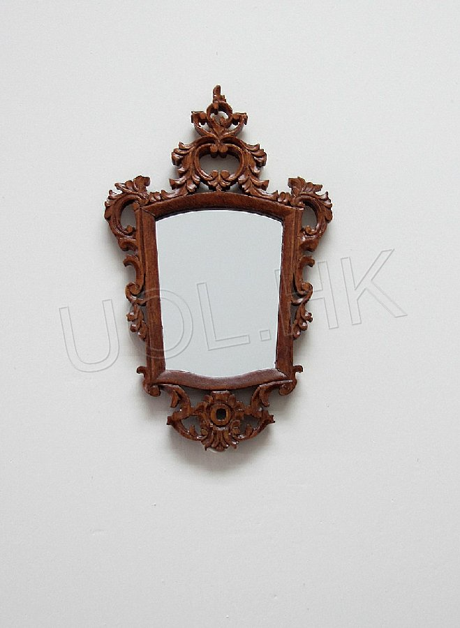 1:12 scale of Grande Savoy walnut mirror