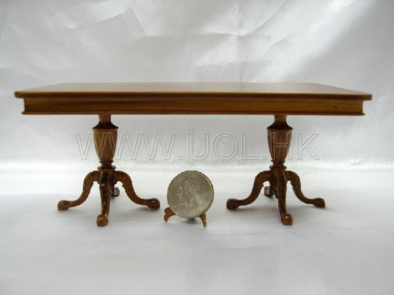 1:12 Scale Miniature Kingston double pedestal dining table-Wn