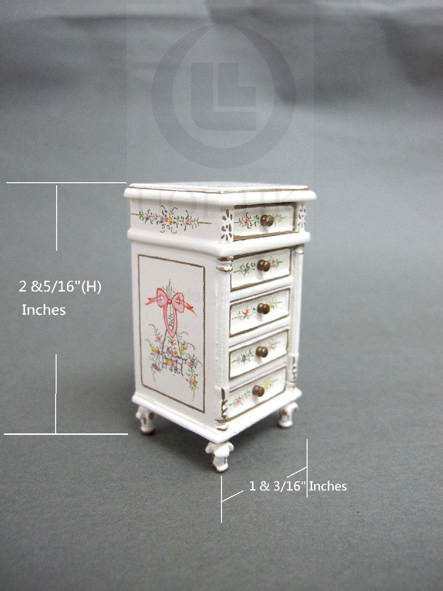 Miniature 1:12 Scale Hand-painted Bedside Table
