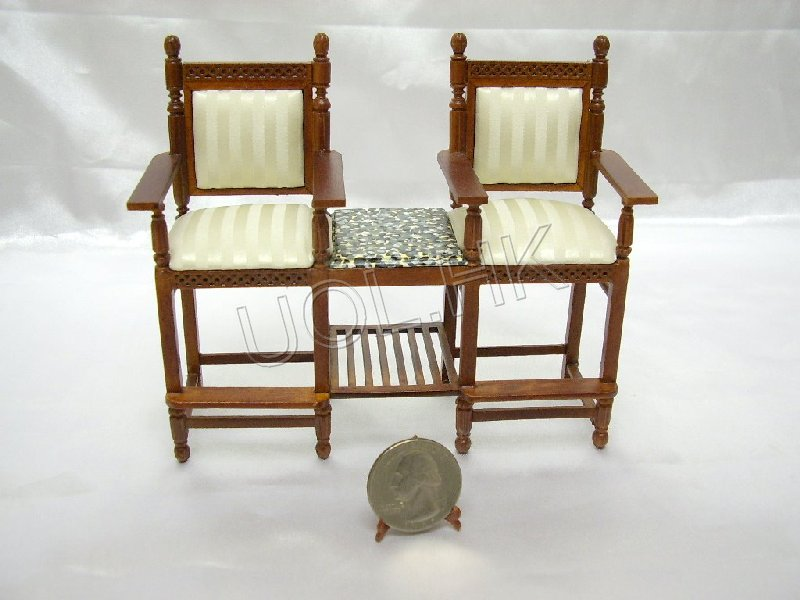 Miniature spectators chair for 1/12th doll house game room