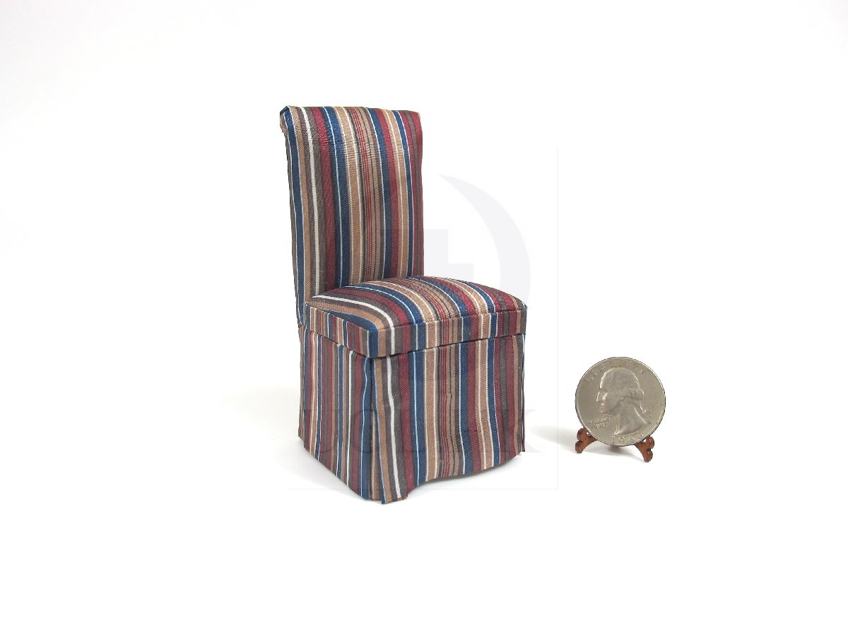 1:12 Scale Miniature Fabric Dining Chair For Doll House-05