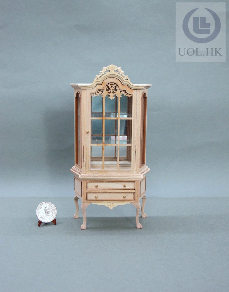1:12 Scale Miniature Wooden Cabinet For Doll House [Unpainted]