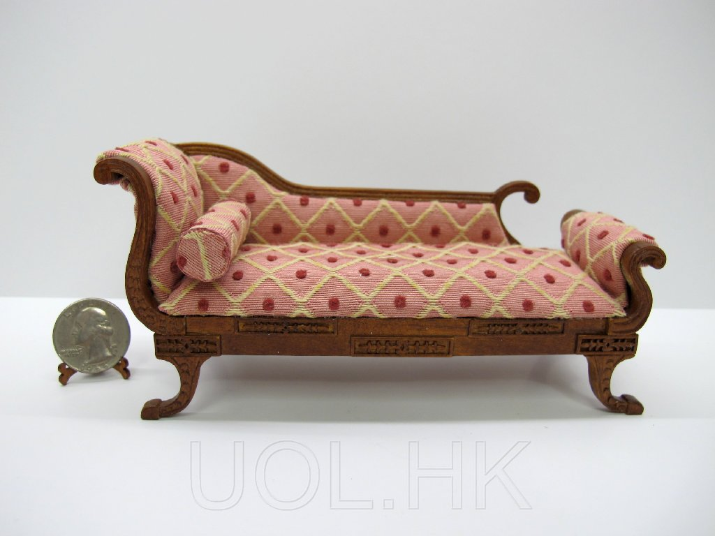 1:12 Scale Doll House Miniature Regency Chaise [WN]