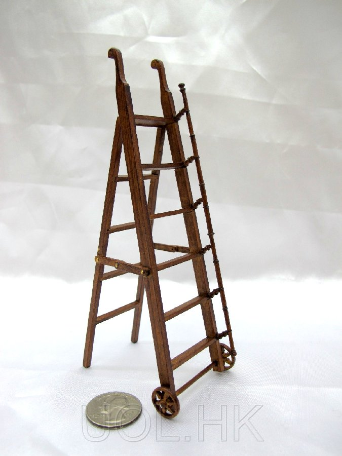 1:12 Scale Doll House Miniature library ladder [WN]