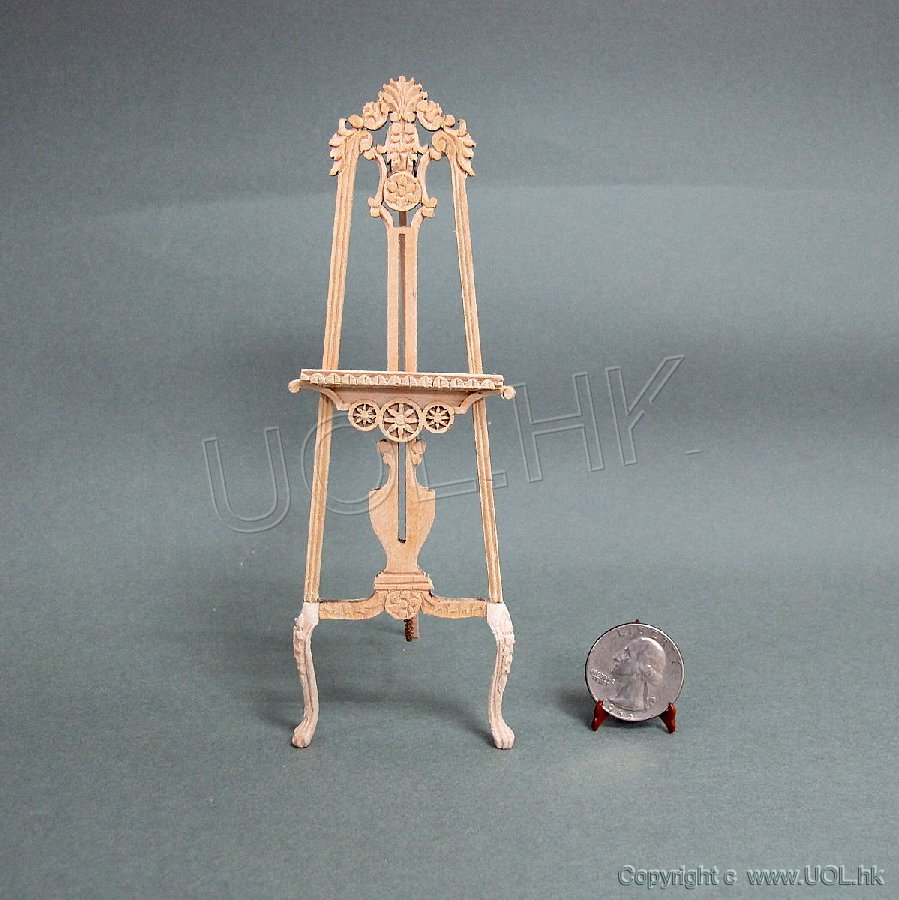"1""Scale Doll House Unfinished Carved Easel"