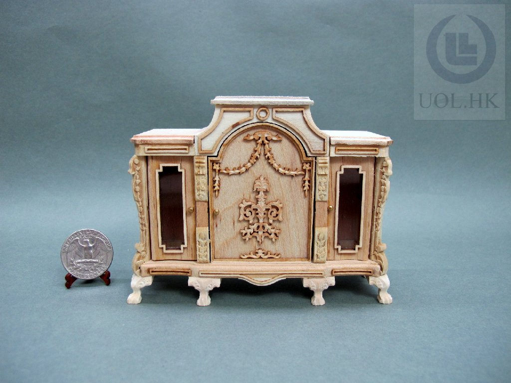 1:12 Scale Miniature Napoleon Buffet For Doll House-Unfinished
