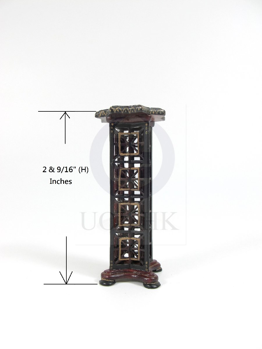 1:12 Scale Doll House Star Pedestal -Mahogany