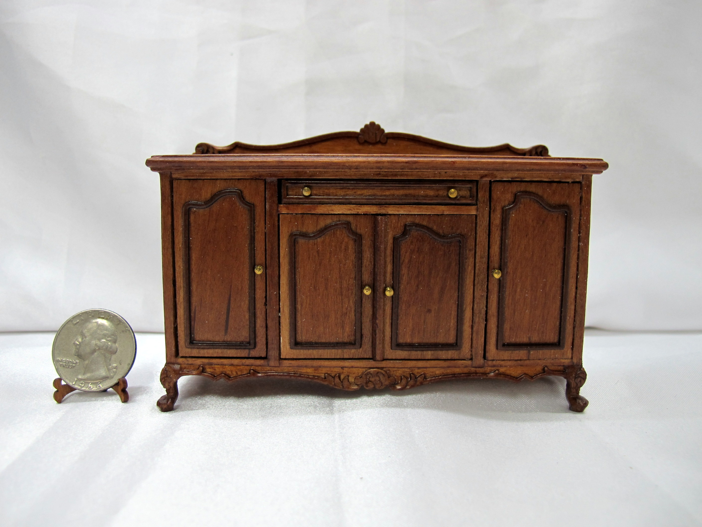 1:12 Scale Doll House Dining Room Credenza Sideboard