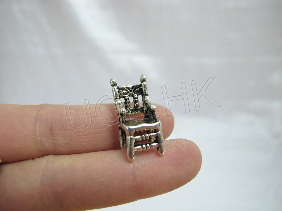 Miniature Tiny Metal Chair -Silver