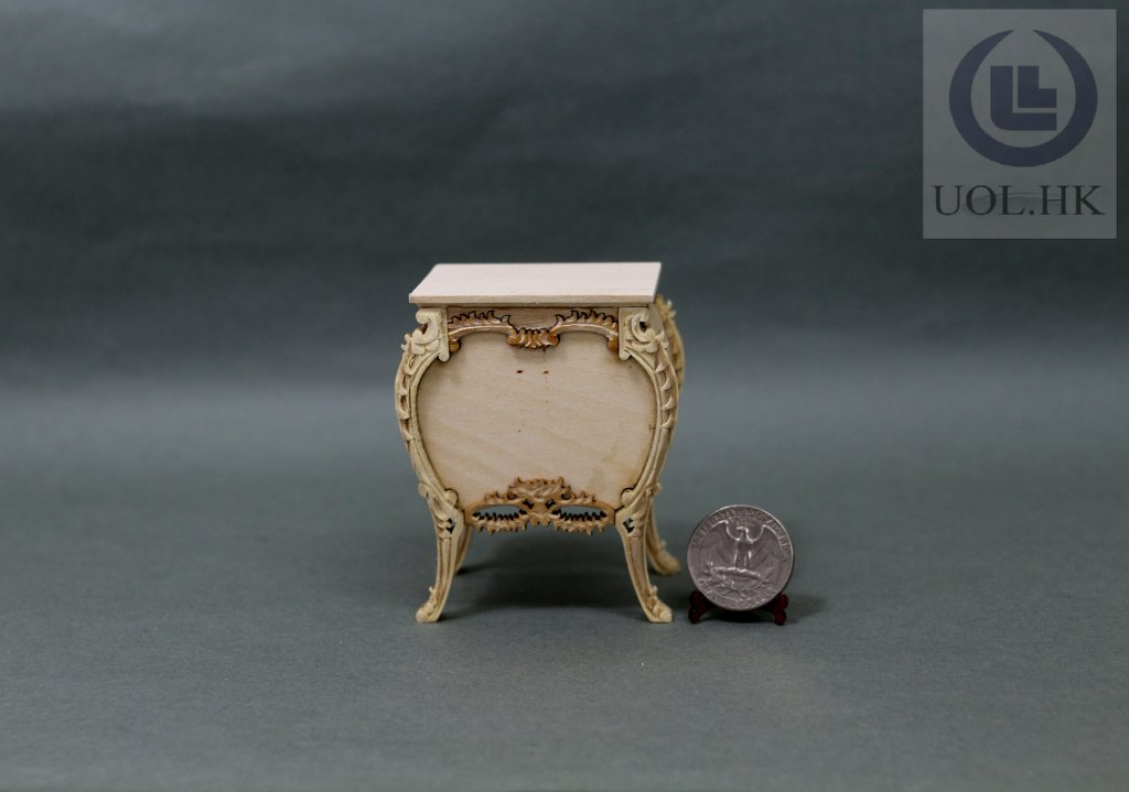 1:12 Scale Miniature Console Table For Doll House[Unfinished]