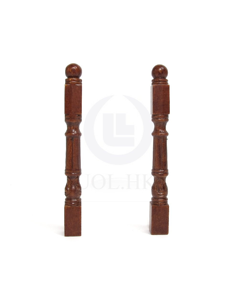 Miniature 1:12 Scale Wooden Newel Post For Doll House [WN]