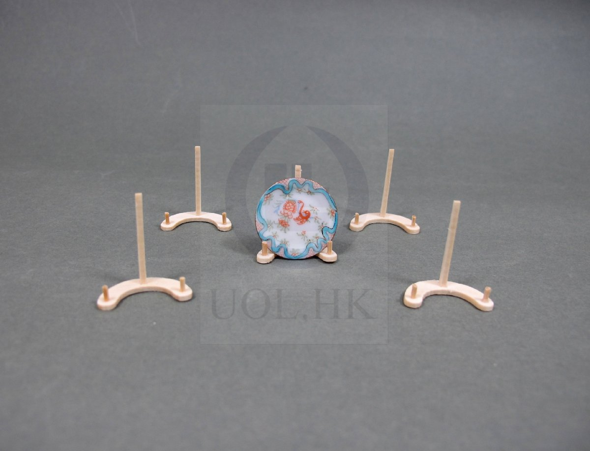 1:12 Scale Miniature Wooden Plate Stands For Dollhouse[UF]