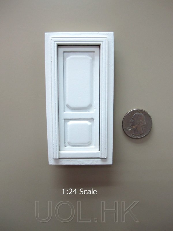 1:24 Scale doll house white stannford door unit