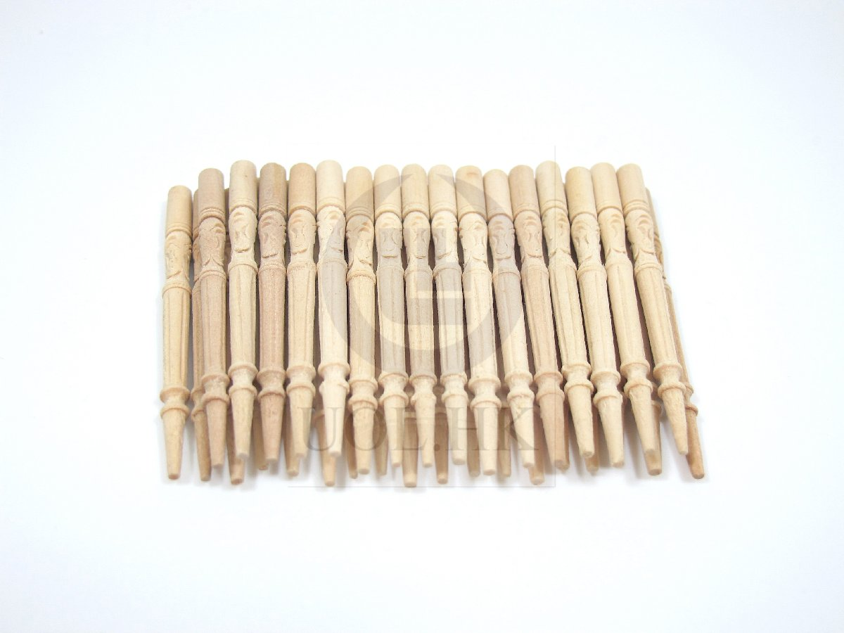 1:12 Scale Wood carved unfinished spindles for doll house