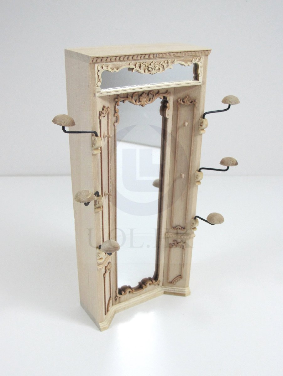"""Unfinished miniature 1:12 Scale The /""""Adalicia Store/"""" Mirror Unit For Dollhouse"""