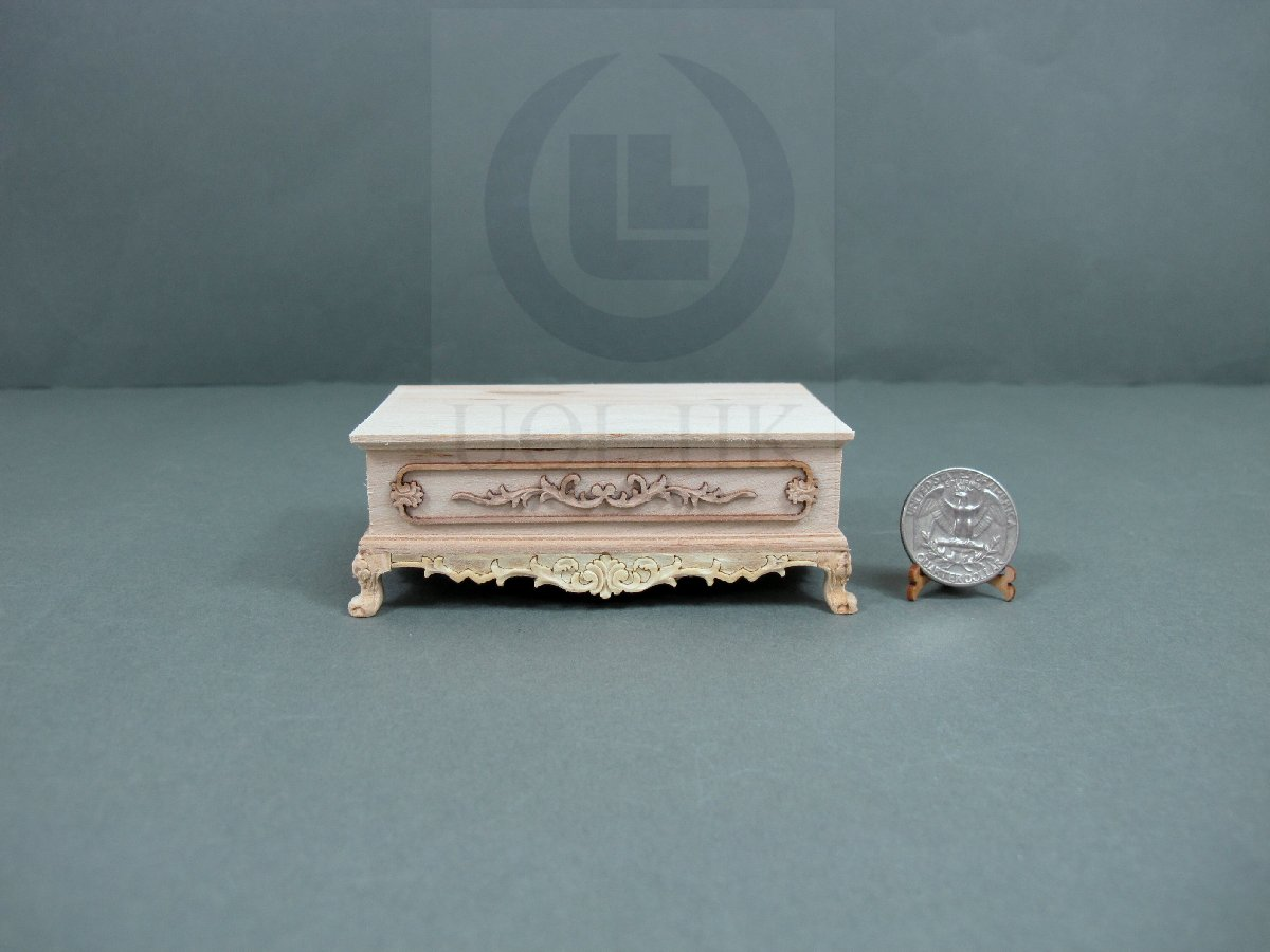 UF 1:12 Scale Miniature Unfinished Wooden See-Saw//Swing Chair For Doll House
