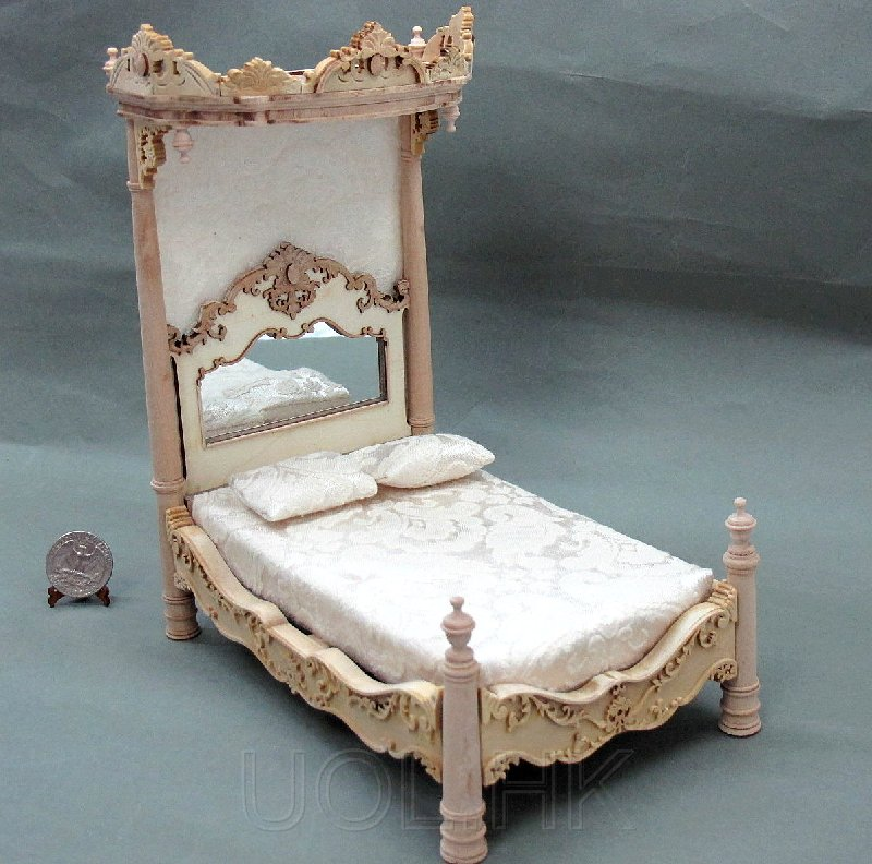 1:12 Scale Madam's Tester Bed -Unfinished