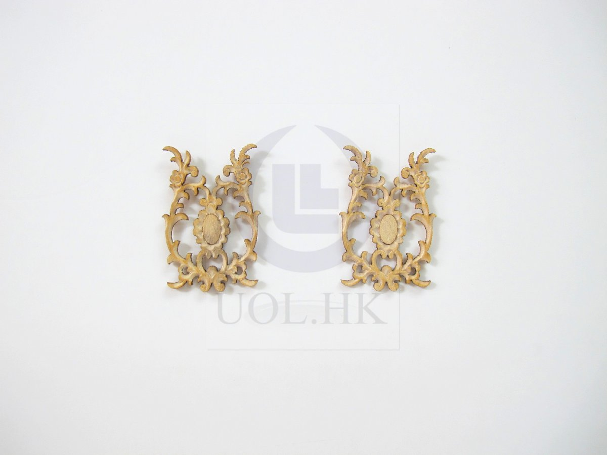 1:12 Scale Miniature Woodworking Decorative Carved Trim-05
