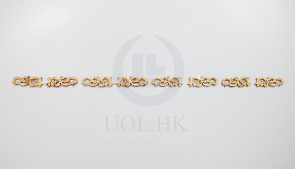 Doll House Miniature Pierced Scroll Frieze Decorative Trim-07