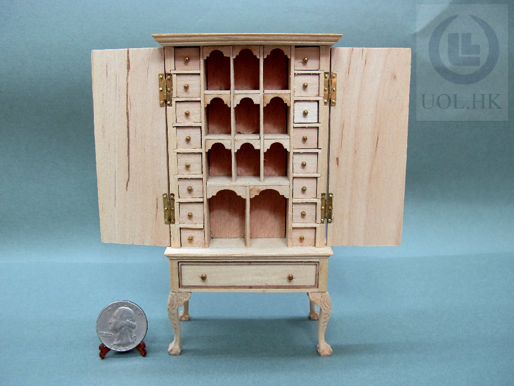 1:12 Scale Unpainted High Body Spice Chest