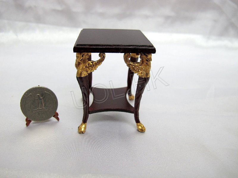 High end empire end table for doll house-mahogany