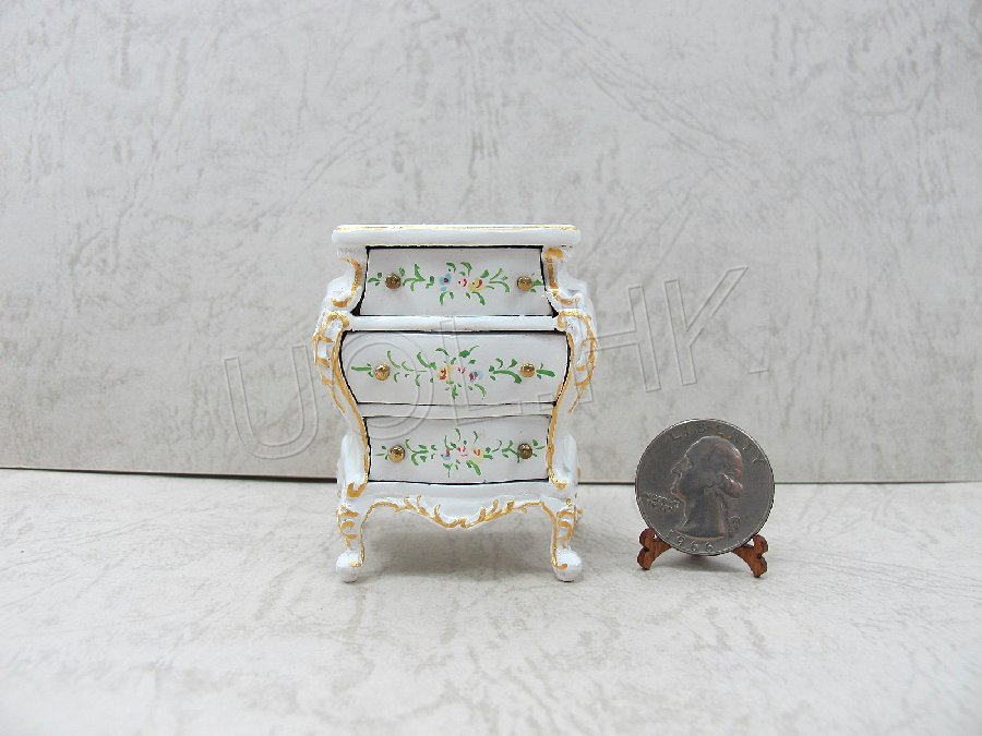 Hand painted white bedside cupboard