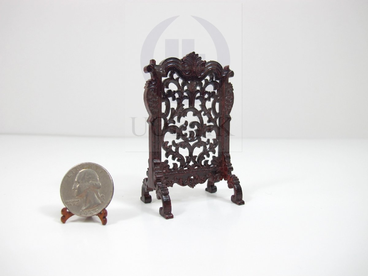 1:12 Scale Miniature Wooden Fire Place Screen For Doll House[MH]