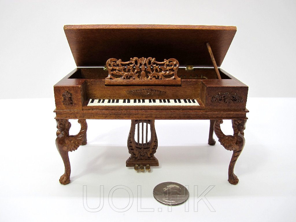 1:12 Scale Doll House Victorian Walnut Piano