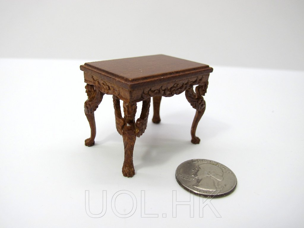 1:12 Scale Doll House Victorian Walnut Piano Stool