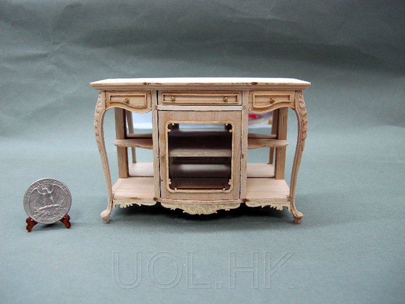 1:12 Scale Of Doll House Console-Unfinished