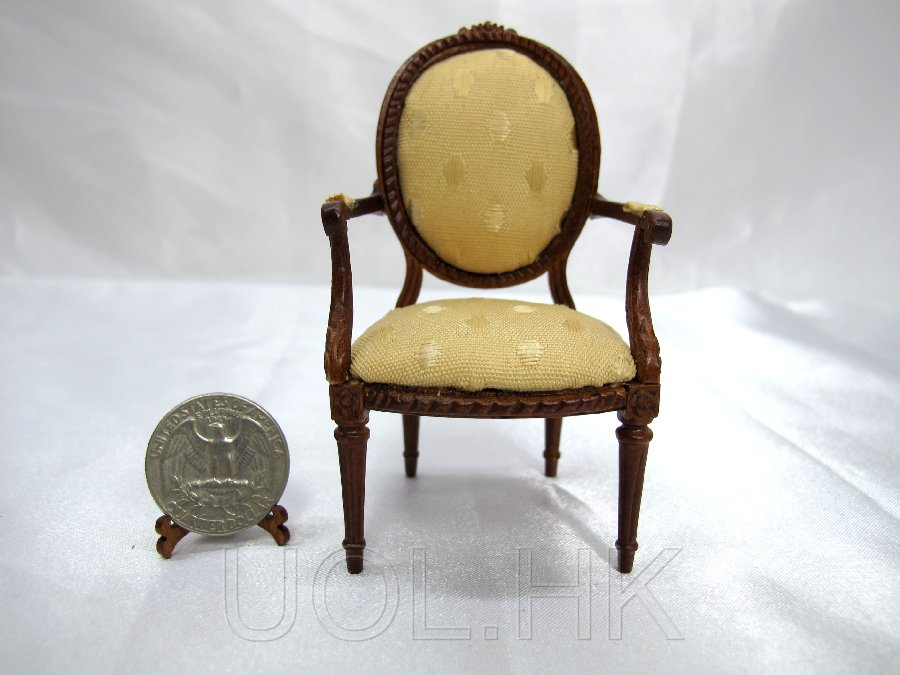 1:12 Scale Doll House Francoise Arm Chair