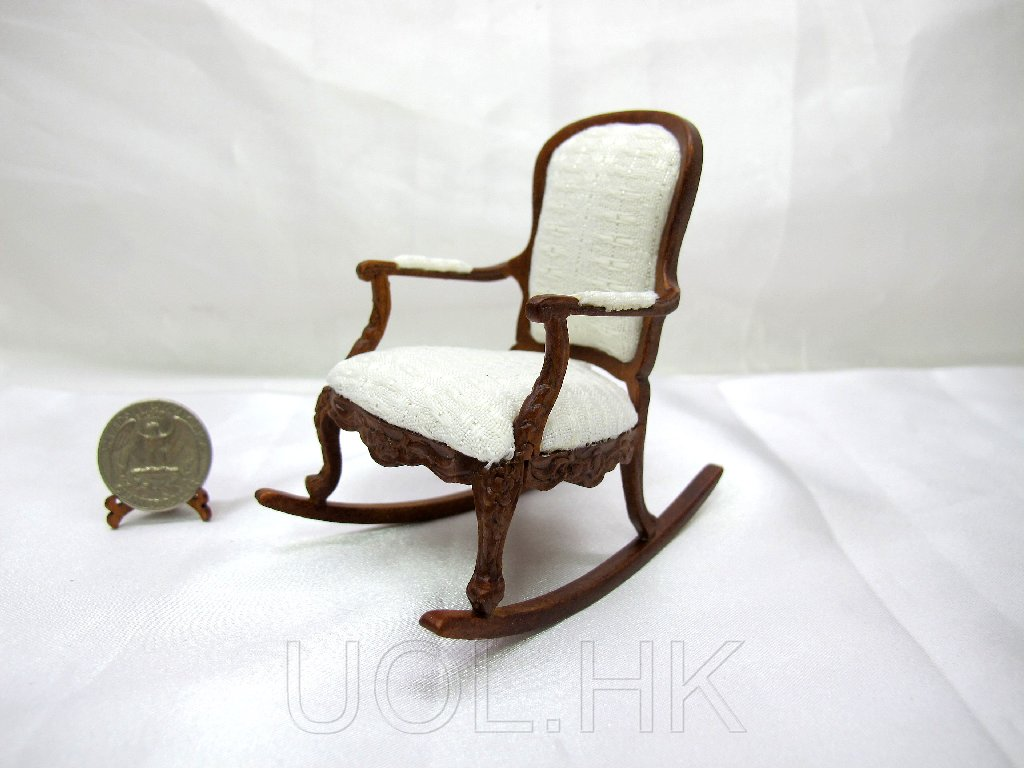 1:12 Scale Doll House Miniature Rocking Chair
