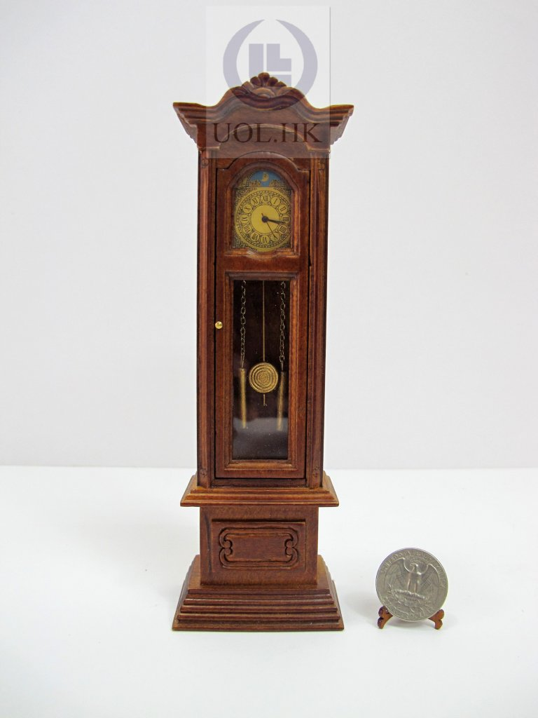 1:12 Scale Miniature Working Grandfather Clock For Doll House