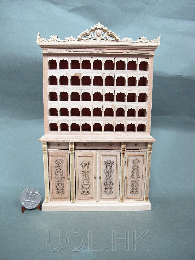 1:12 Sacle Miniature Hotel Lobby Key And Mail Cabinet-Unfinished
