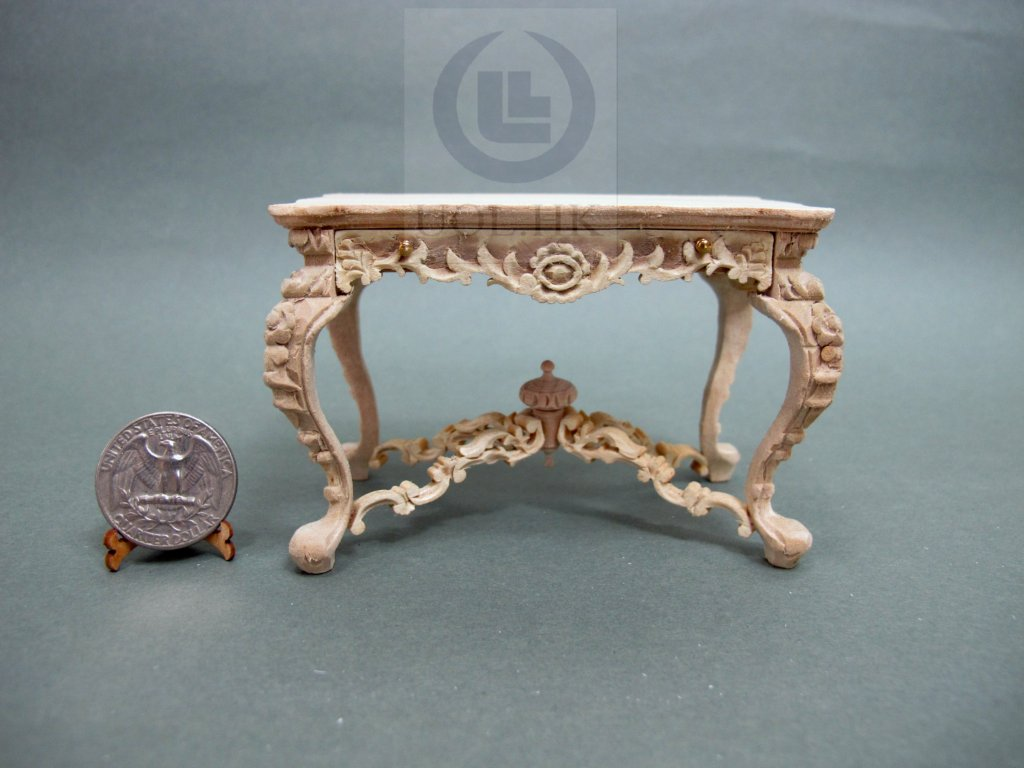 1:12 Scale Miniature Hotel Lobby Letter Desk [Unfinished]