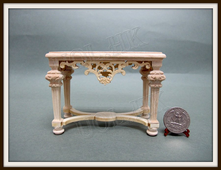 "1""Scale Doll House Frenazie Hall Console--Unfinished"