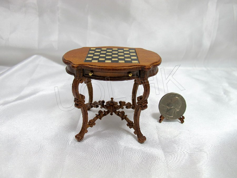 1/12th Scale  Doll House Parlor Chess Table