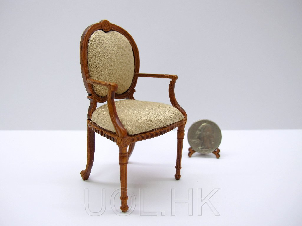 1:12 Scale Doll House Miniature Princeton arm chair