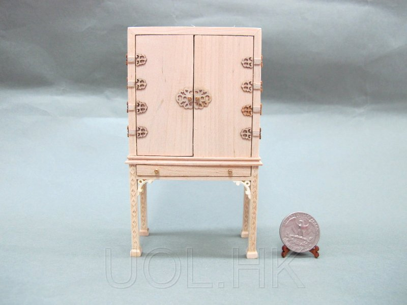 1:12 Scale Doll House Spice Chest-Unpainted