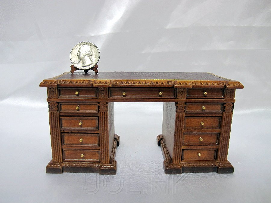 "1""Scale Randall Library Desk/ Office Desk For Doll House"