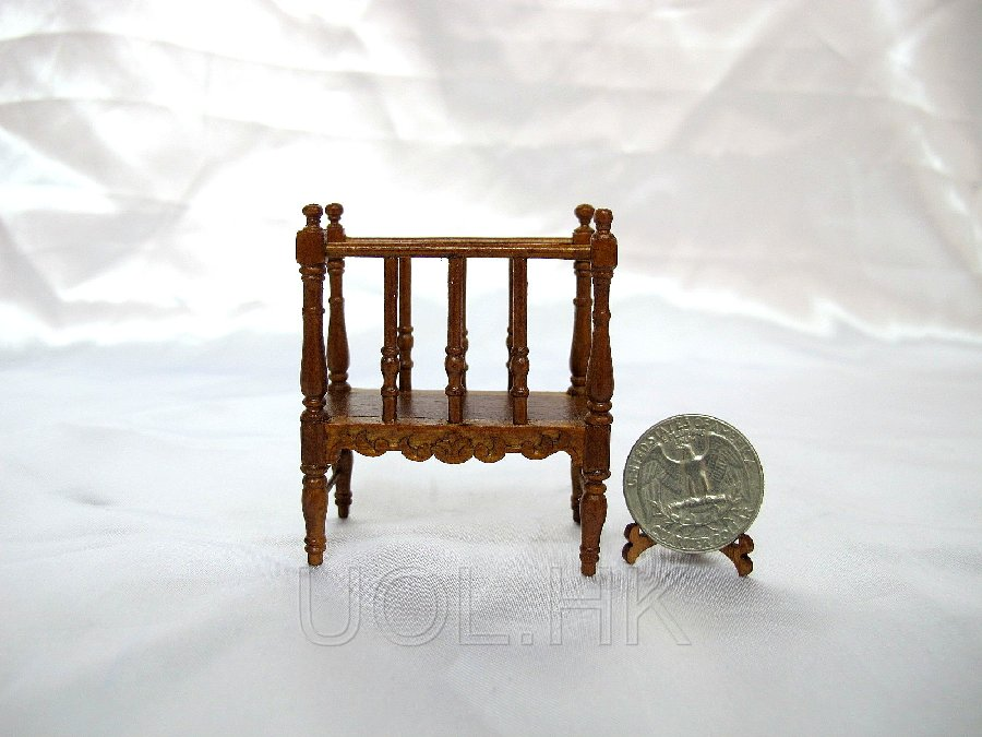 1:12 Scale Doll House Magazine shelf/Portfolio stand