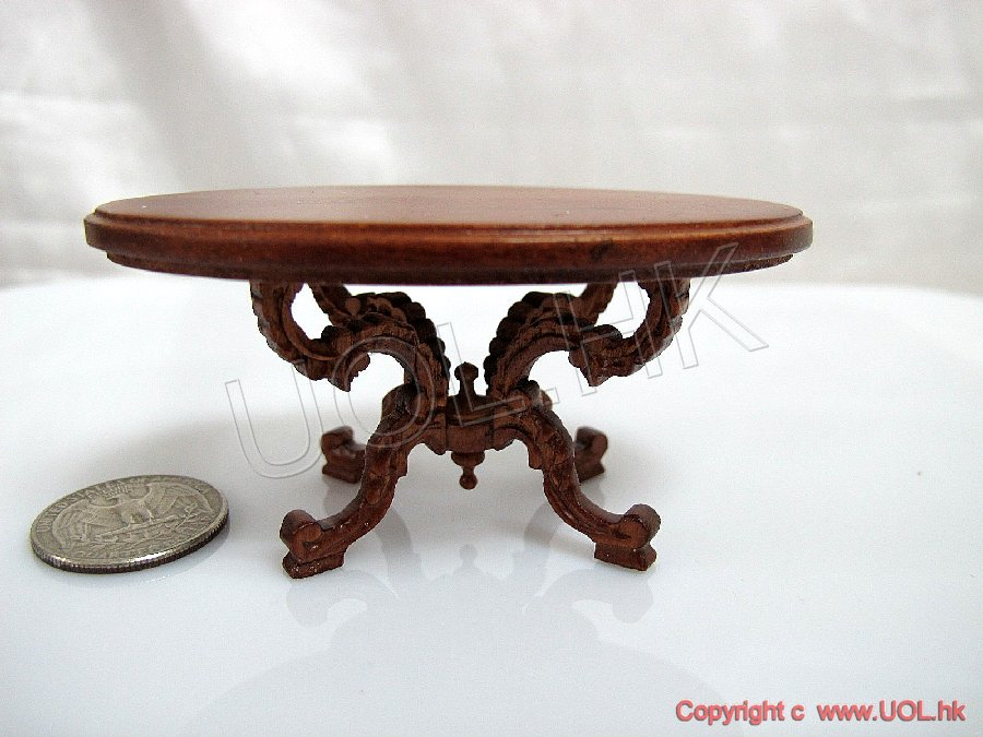 "1""Scale Doll House Miniature Victorian Coffee Table-Y4320ct"