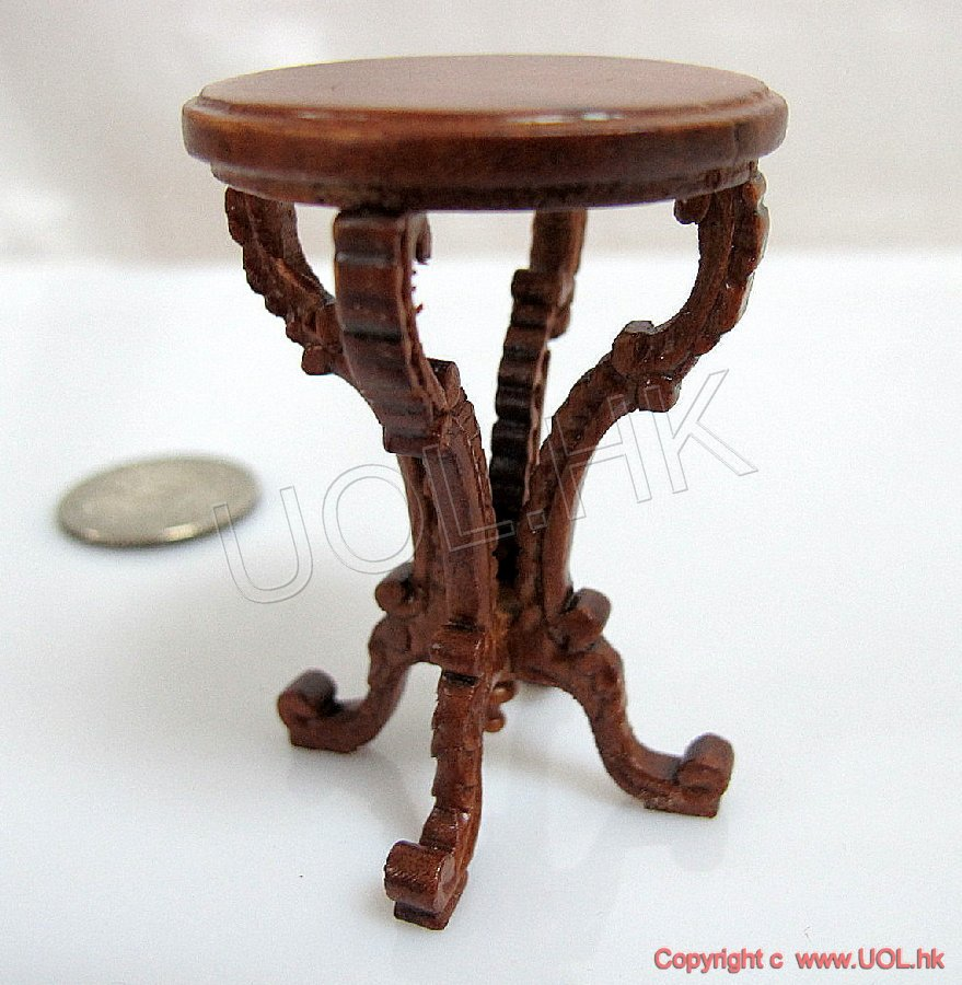 "1""scale Victorian end table-Y4320et"