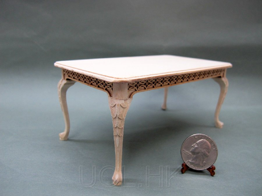 1:12 Scale Miniature La Francesco Dining Table --Unfinished
